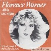 Florence Warner Jones Lyrics